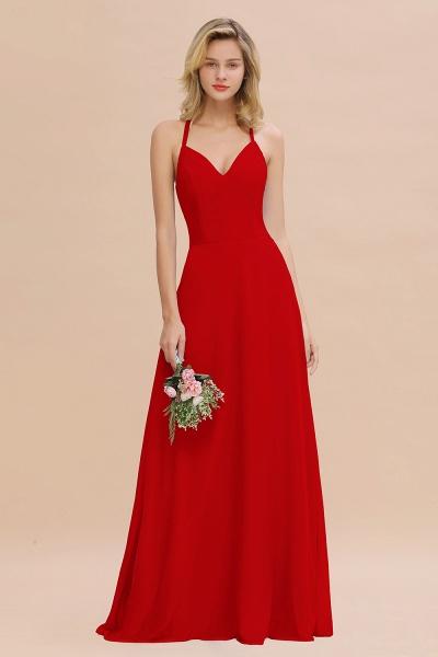 BM0779 Stylish Chiffon Spaghetti Straps Sleeveless Long Bridesmaid Dress_8