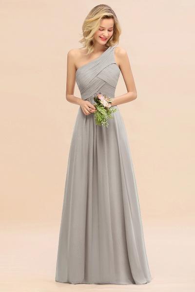 BM0756 Elegant Ruffles One Shoulder Long Bridesmaid Dress_30
