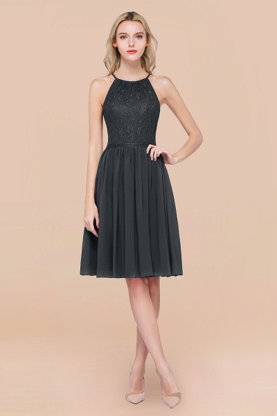 A-line Chiffon Lace Jewel Sleeveless Knee-Length Bridesmaid Dresses with Ruffles_46