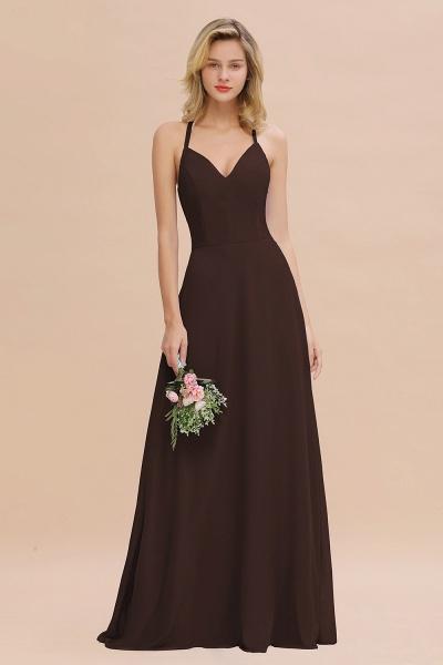 BM0779 Stylish Chiffon Spaghetti Straps Sleeveless Long Bridesmaid Dress_11