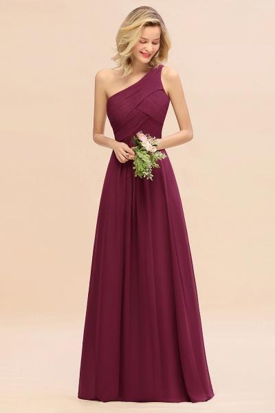 BM0756 Elegant Ruffles One Shoulder Long Bridesmaid Dress_44
