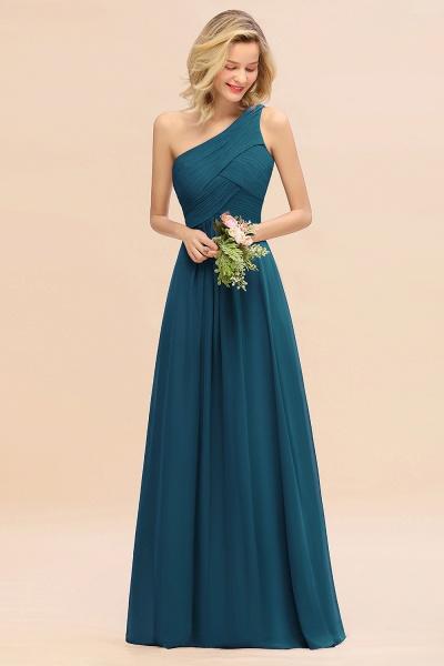 BM0756 Elegant Ruffles One Shoulder Long Bridesmaid Dress_27