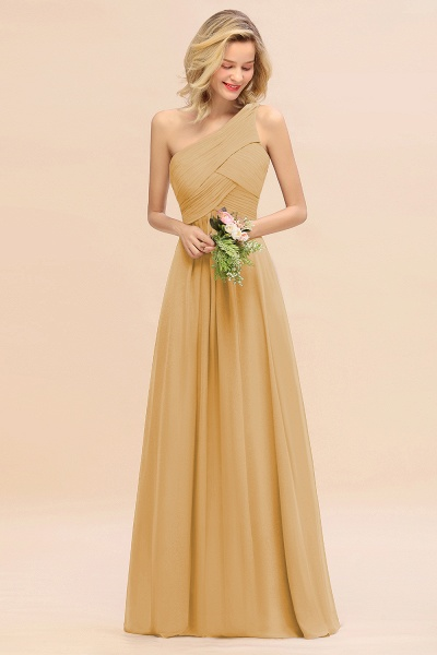 BM0756 Elegant Ruffles One Shoulder Long Bridesmaid Dress_13