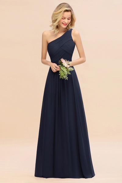 BM0756 Elegant Ruffles One Shoulder Long Bridesmaid Dress_28