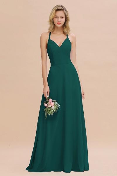 BM0779 Stylish Chiffon Spaghetti Straps Sleeveless Long Bridesmaid Dress_33