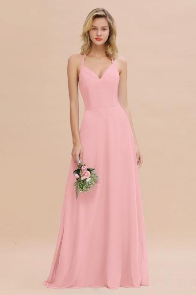BM0779 Stylish Chiffon Spaghetti Straps Sleeveless Long Bridesmaid Dress_4
