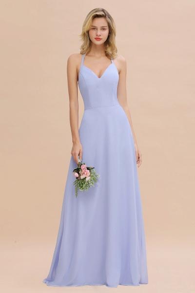 BM0779 Stylish Chiffon Spaghetti Straps Sleeveless Long Bridesmaid Dress_22