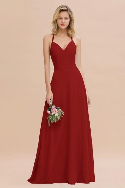 BM0779 Stylish Chiffon Spaghetti Straps Sleeveless Long Bridesmaid Dress_48