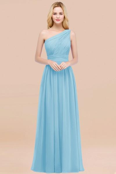 Elegant A-Line Chiffon One-Shoulder Sleeveless Ruffles Floor-Length Bridesmaid Dresses_23