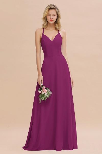 BM0779 Stylish Chiffon Spaghetti Straps Sleeveless Long Bridesmaid Dress_42