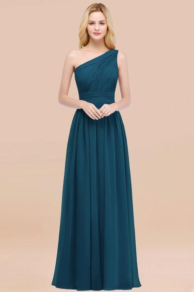 Elegant A-Line Chiffon One-Shoulder Sleeveless Ruffles Floor-Length Bridesmaid Dresses_27