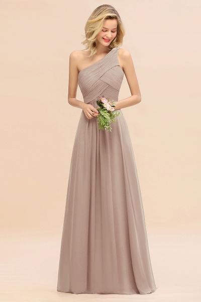 BM0756 Elegant Ruffles One Shoulder Long Bridesmaid Dress_16
