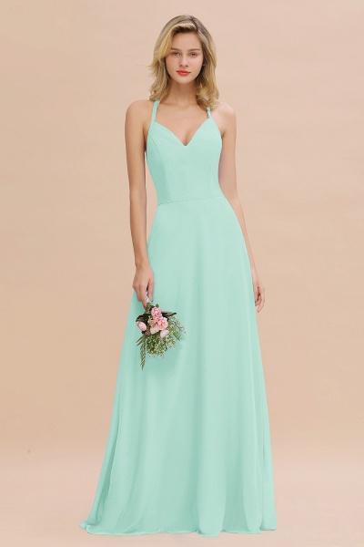 BM0779 Stylish Chiffon Spaghetti Straps Sleeveless Long Bridesmaid Dress_36
