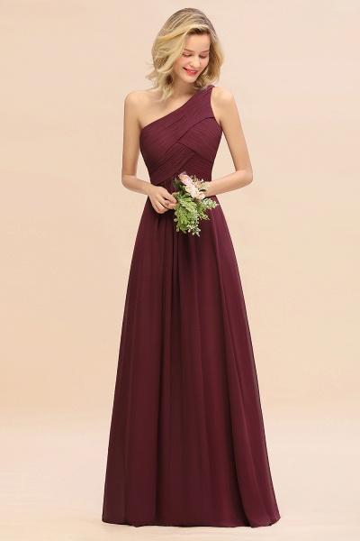 BM0756 Elegant Ruffles One Shoulder Long Bridesmaid Dress_10