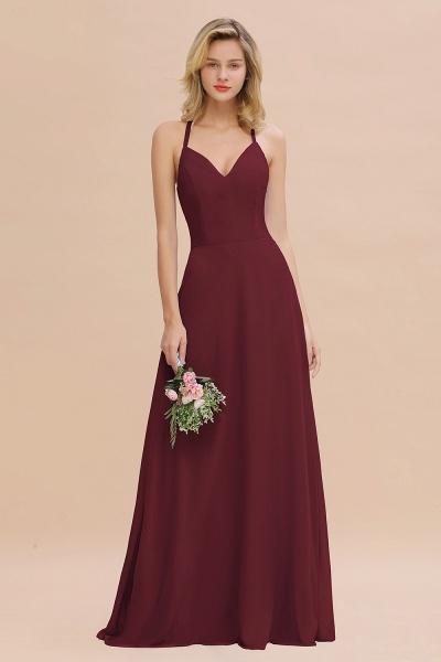 BM0779 Stylish Chiffon Spaghetti Straps Sleeveless Long Bridesmaid Dress_10