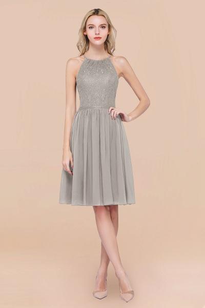 A-line Chiffon Lace Jewel Sleeveless Knee-Length Bridesmaid Dresses with Ruffles_30