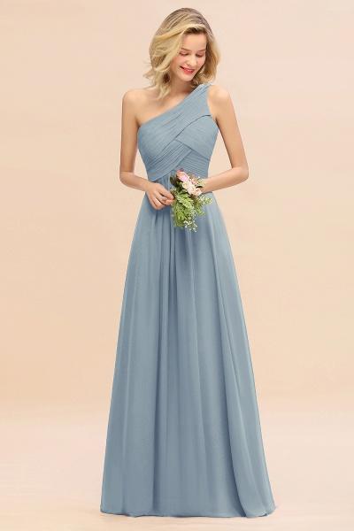 BM0756 Elegant Ruffles One Shoulder Long Bridesmaid Dress_40