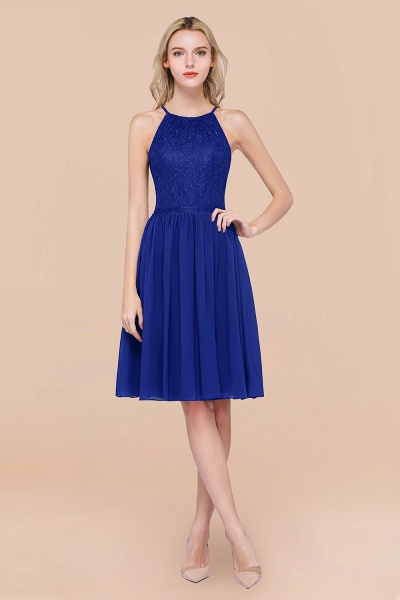 A-line Chiffon Lace Jewel Sleeveless Knee-Length Bridesmaid Dresses with Ruffles_26