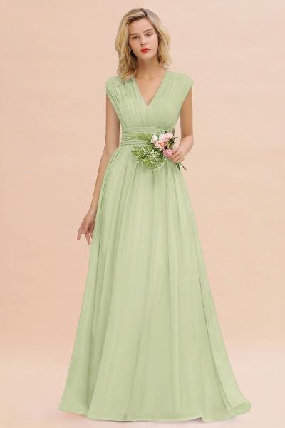 BM0774 Chiffon V-Neck Sleeveless Elegant A-line Ruffles Bridesmaid Dress_35