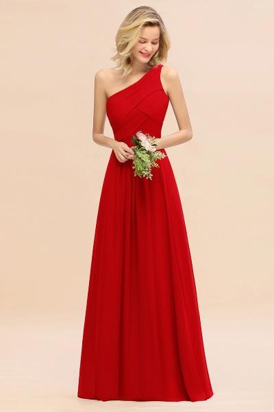 BM0756 Elegant Ruffles One Shoulder Long Bridesmaid Dress_8