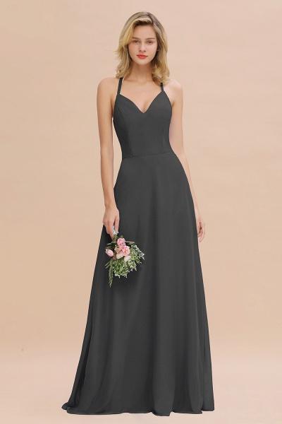 BM0779 Stylish Chiffon Spaghetti Straps Sleeveless Long Bridesmaid Dress_46
