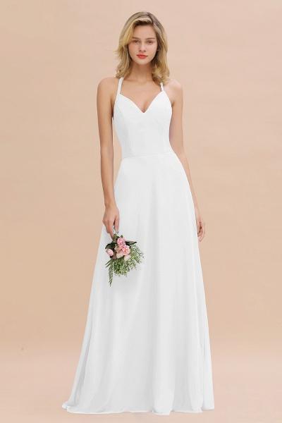 BM0779 Stylish Chiffon Spaghetti Straps Sleeveless Long Bridesmaid Dress_1