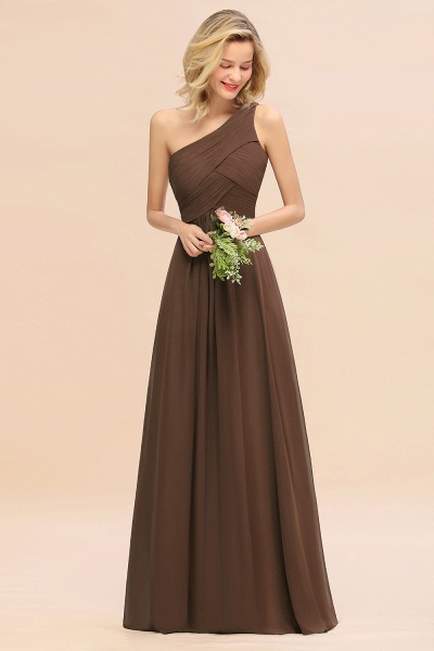 BM0756 Elegant Ruffles One Shoulder Long Bridesmaid Dress_12