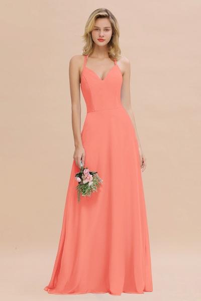 BM0779 Stylish Chiffon Spaghetti Straps Sleeveless Long Bridesmaid Dress_45