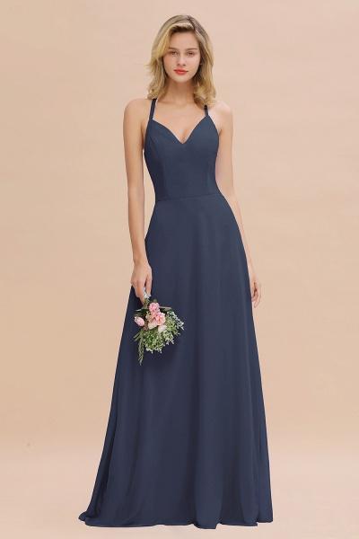 BM0779 Stylish Chiffon Spaghetti Straps Sleeveless Long Bridesmaid Dress_39