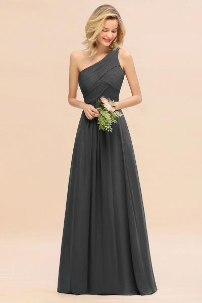 BM0756 Elegant Ruffles One Shoulder Long Bridesmaid Dress_46