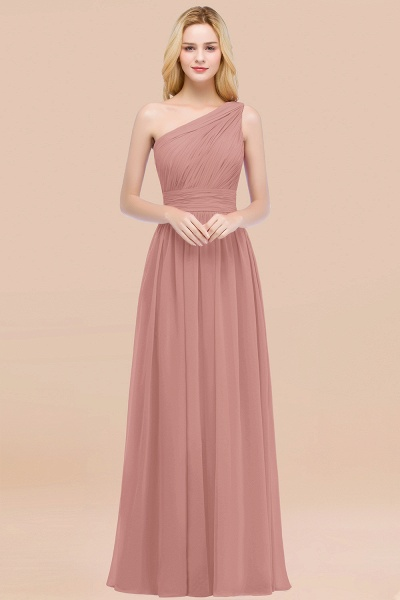 Elegant A-Line Chiffon One-Shoulder Sleeveless Ruffles Floor-Length Bridesmaid Dresses_50