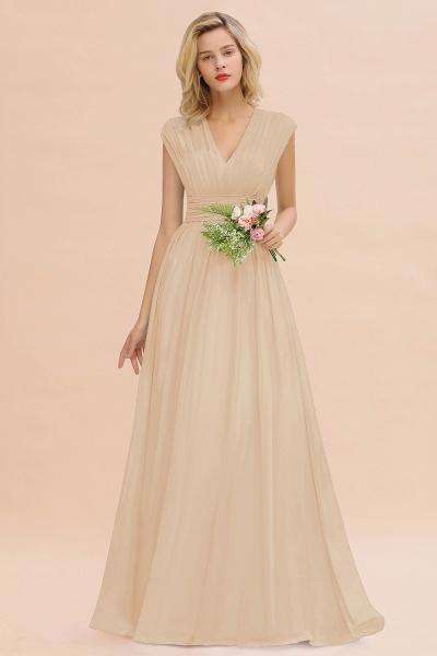 BM0774 Chiffon V-Neck Sleeveless Elegant A-line Ruffles Bridesmaid Dress_14