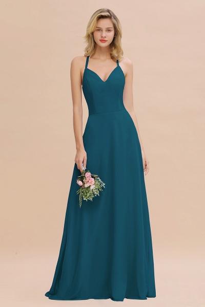 BM0779 Stylish Chiffon Spaghetti Straps Sleeveless Long Bridesmaid Dress_27