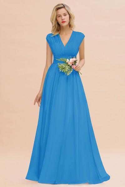 BM0774 Chiffon V-Neck Sleeveless Elegant A-line Ruffles Bridesmaid Dress_25