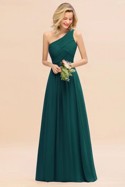 BM0756 Elegant Ruffles One Shoulder Long Bridesmaid Dress_33