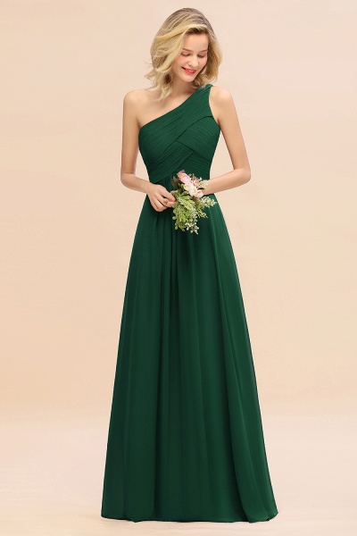 BM0756 Elegant Ruffles One Shoulder Long Bridesmaid Dress_31