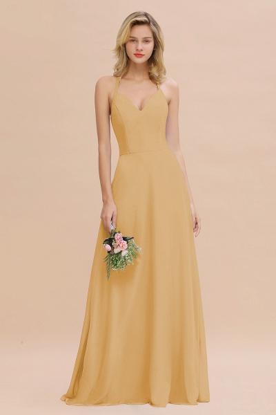 BM0779 Stylish Chiffon Spaghetti Straps Sleeveless Long Bridesmaid Dress_13