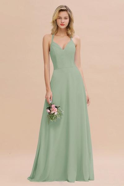 BM0779 Stylish Chiffon Spaghetti Straps Sleeveless Long Bridesmaid Dress_41