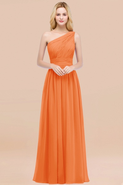 Elegant A-Line Chiffon One-Shoulder Sleeveless Ruffles Floor-Length Bridesmaid Dresses_15