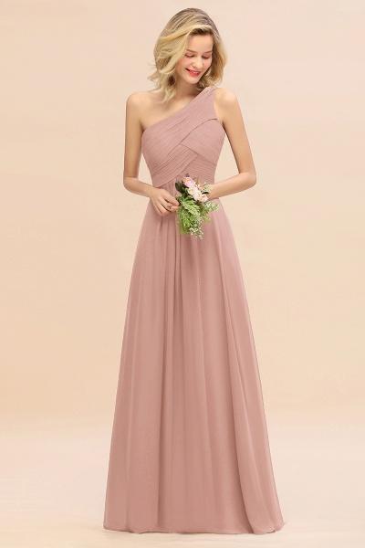 BM0756 Elegant Ruffles One Shoulder Long Bridesmaid Dress_6