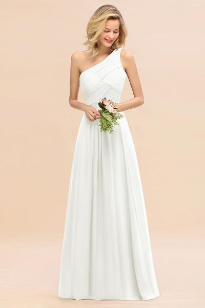 BM0756 Elegant Ruffles One Shoulder Long Bridesmaid Dress_2