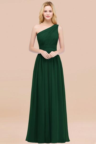 Elegant A-Line Chiffon One-Shoulder Sleeveless Ruffles Floor-Length Bridesmaid Dresses_31