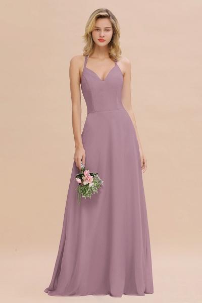 BM0779 Stylish Chiffon Spaghetti Straps Sleeveless Long Bridesmaid Dress_43