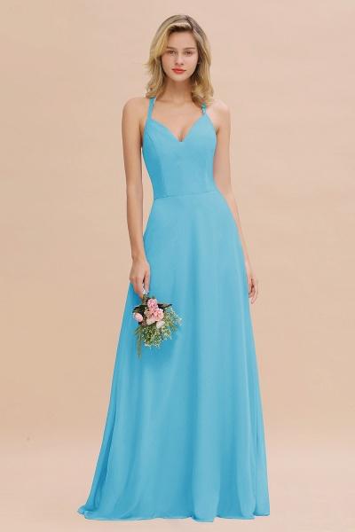 BM0779 Stylish Chiffon Spaghetti Straps Sleeveless Long Bridesmaid Dress_24