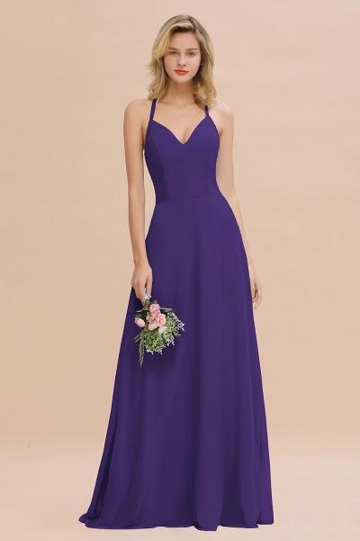 BM0779 Stylish Chiffon Spaghetti Straps Sleeveless Long Bridesmaid Dress_19