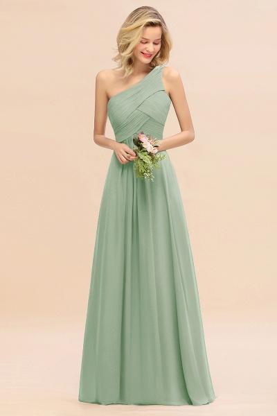 BM0756 Elegant Ruffles One Shoulder Long Bridesmaid Dress_41