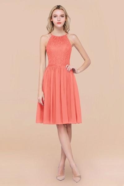 A-line Chiffon Lace Jewel Sleeveless Knee-Length Bridesmaid Dresses with Ruffles_45
