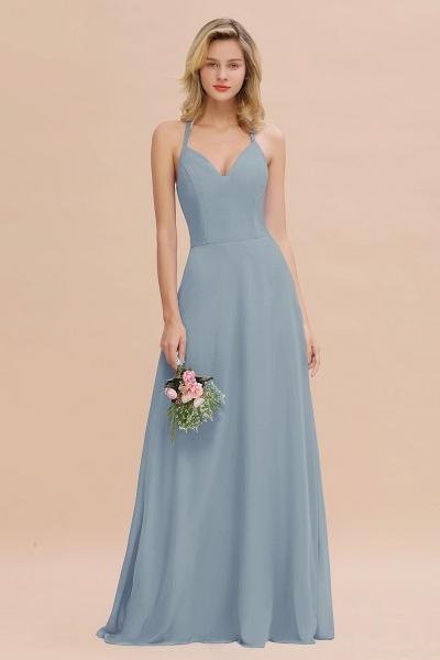 BM0779 Stylish Chiffon Spaghetti Straps Sleeveless Long Bridesmaid Dress_40