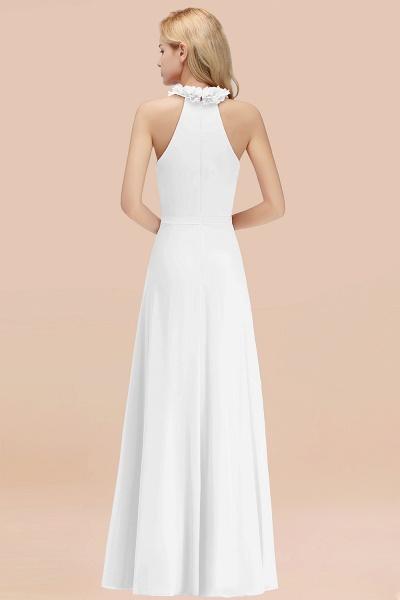 Halter A-line Floor Length Sleeveless Ruffled Chiffon Bridesmaid Dresses_1