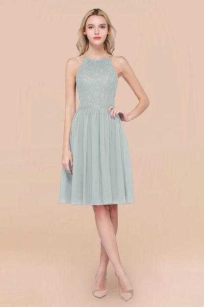 A-line Chiffon Lace Jewel Sleeveless Knee-Length Bridesmaid Dresses with Ruffles_38